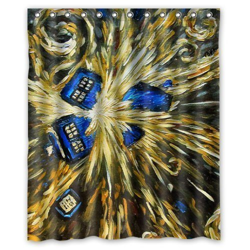 Tardis-shower curtain