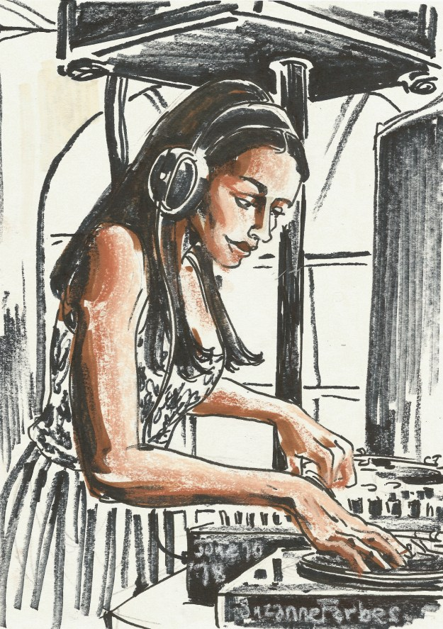 Roxy the dj at Berlin Classic Days by Suzanne Forbes June 10 2018
