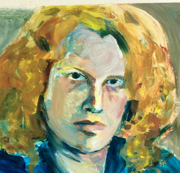 detail Portrait of Brad Geiken by Suzanne Forbes aka Rachel Ketchum Fall 1990