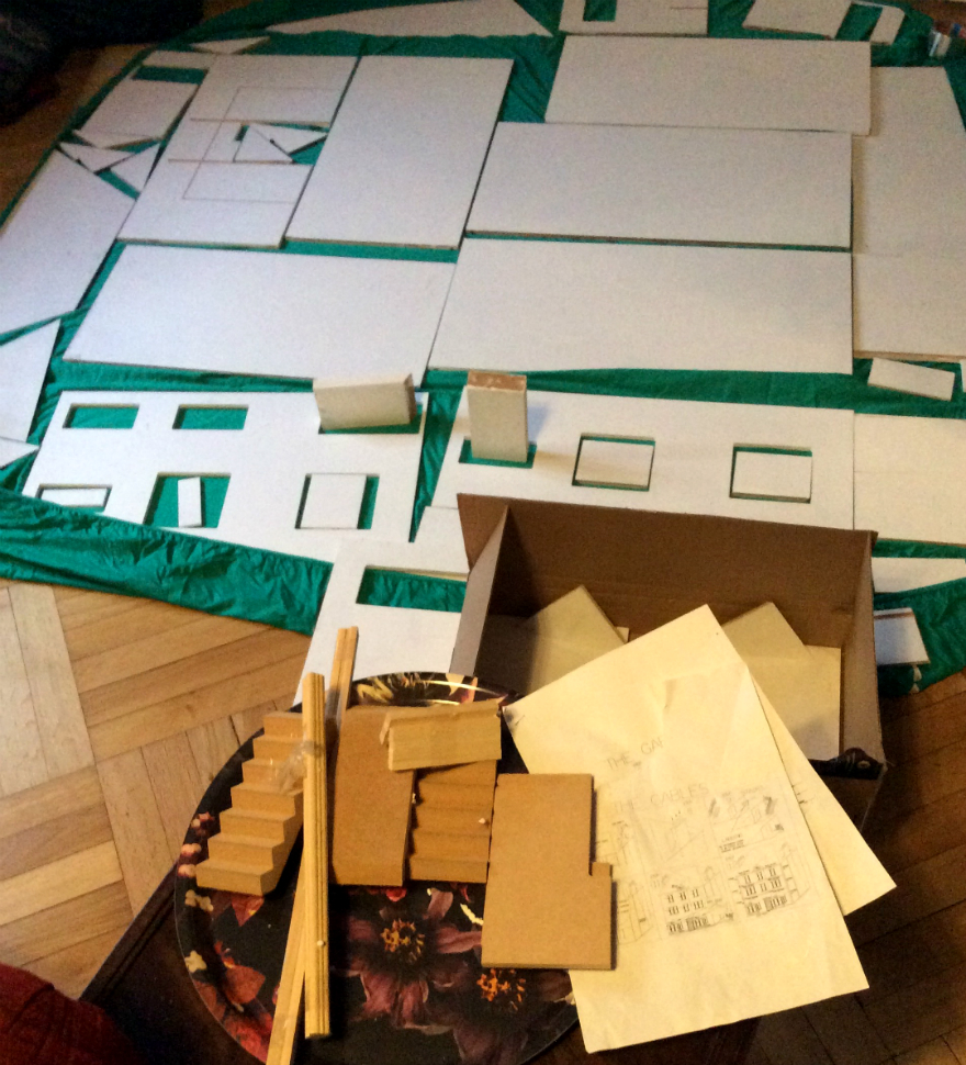 A Huge New Tiny Project School For Gifted Youngsters At Last Dolls House Wiring Kit Below The Far Superior Routed Sawn Mdf Pieces Of My Gables Primed And Laid Out Yesterday
