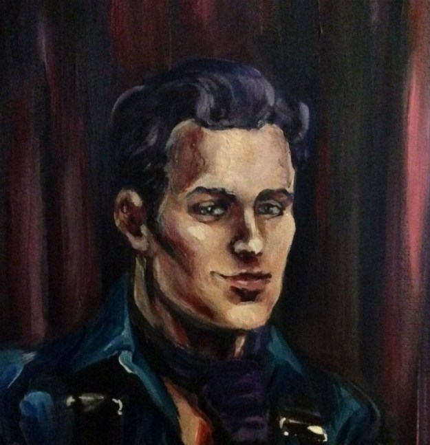 Portrait of Sebastian detail by Suzanne Forbes work in progress Nov 28 2018