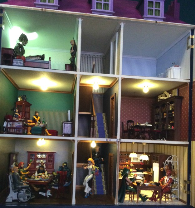 Work in process X Men dollhouse interior by Suzanne Forbes Feb 26 2019