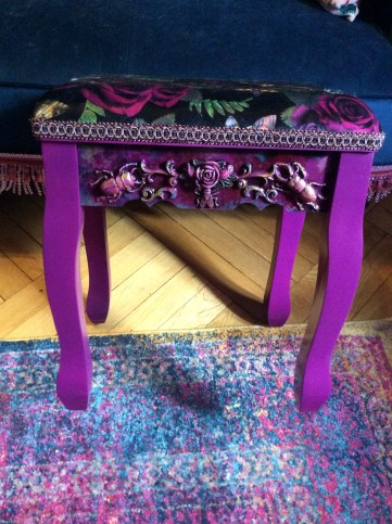Insect Bas Relief Boudoir Stool by Suzanne Forbes May 2019