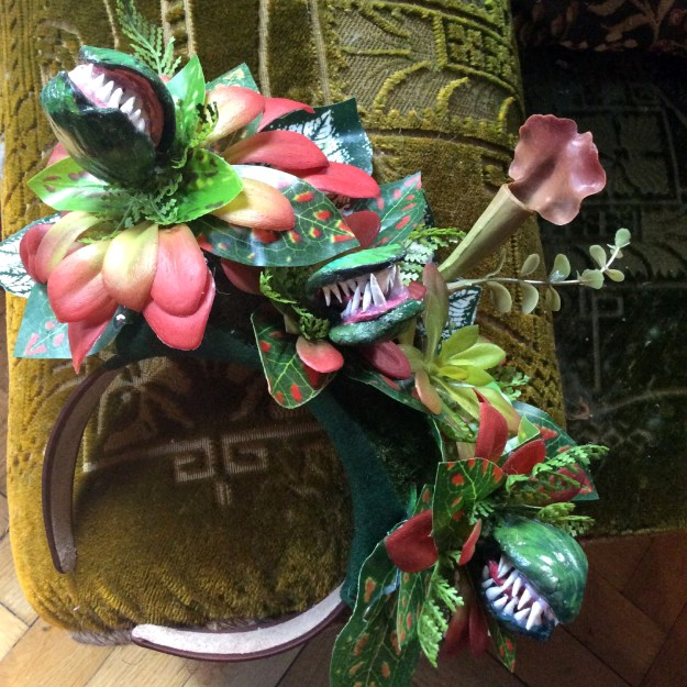 Alien Venus Flytrap Headpiece by Suzanne Forbes March 2020