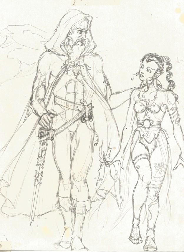 Elfquest drawing prob 1983 by Rachel Ketchum aka Suzanne Forbes