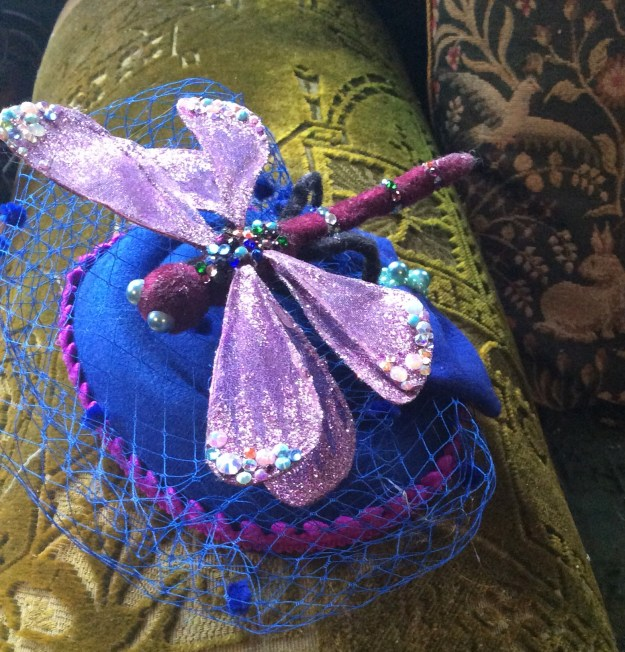 dragonfly pillbox hat Suzanne Forbes march 2020