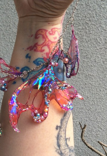 Mermaid jewelry by Suzanne Forbes July 2020 with tattoos by Daria Rein
