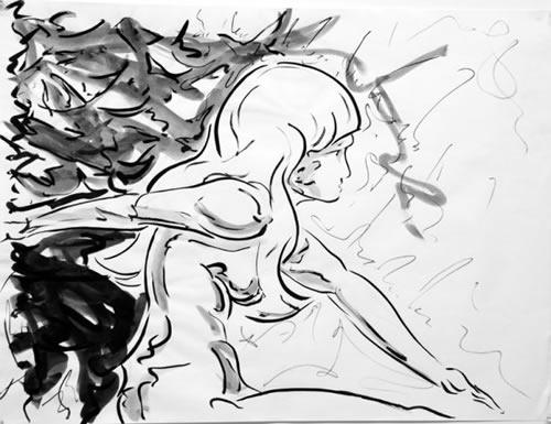 Zhanna Brush and Ink