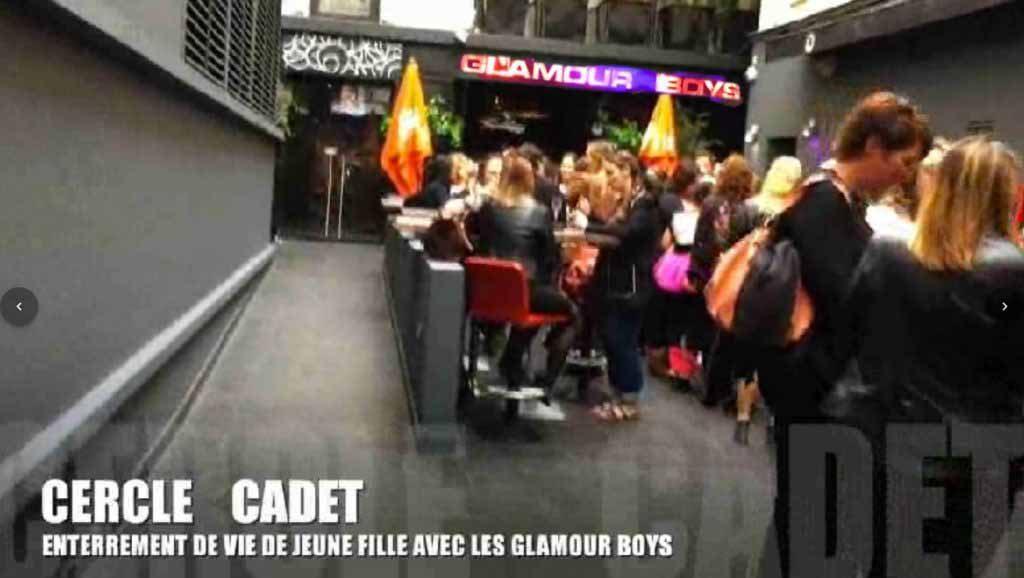 spectacle enterrement de vie de jeune fille avec les glamour boys