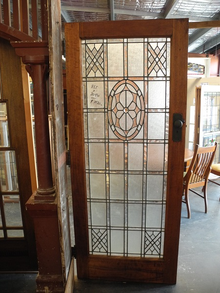 original secondhand leadlight front door