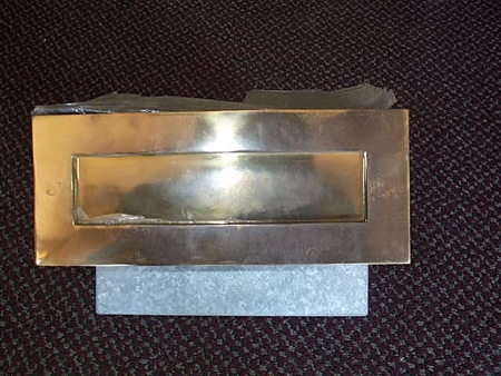 letterboxes mailboxes sydney post box brass fronted pillar horizontal