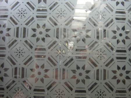 new etched glass pattern 5mm and 3mm number 7