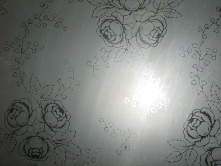 Etched Glass Pattern No 14
