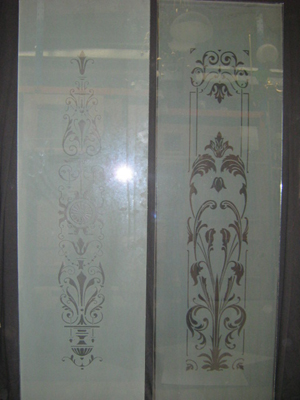 new etched glass pattern 5mm salisbury and flowey