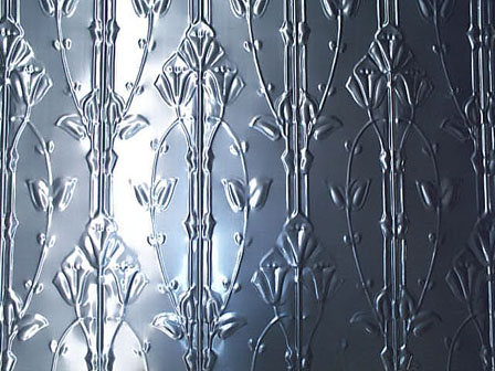 pressed tin panels aluminium reproduction lily dado