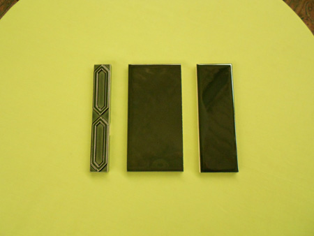new reproduction ceramic victorian federation art nouveau tiles smiths steel green series