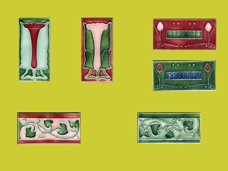 new reproduction ceramic victorian federation art nouveau tiles porteous 6x3 tiles