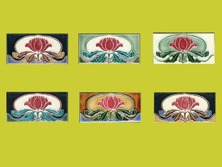 new reproduction ceramic victorian federation art nouveau tiles warath border tiles 6x3 tiles