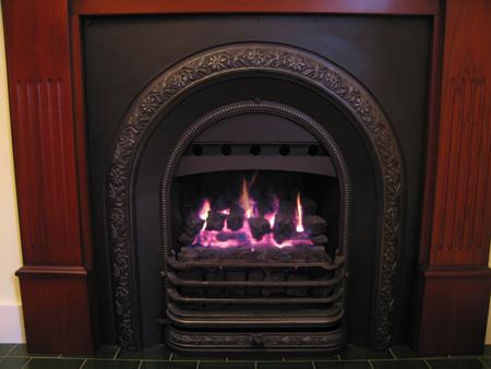 fireplaces gas cast iron grate nectre wonder fire fan box