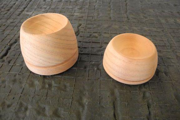 Timber castor cups