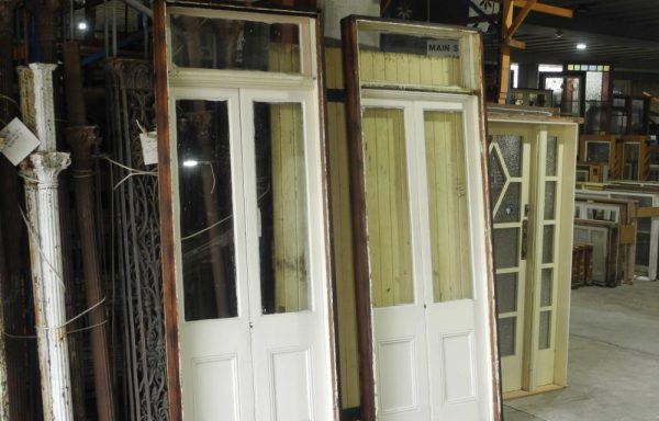 2 Pair French Doors in a Frame with Fanlight