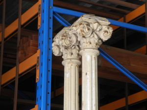 column cast iron flat round capital second hand