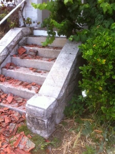secondhand original sandstone steps staircase blocks slate terrazzo marble threshold