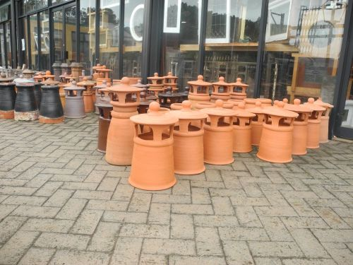 new secondhand original sydney chimney terracotta pots hooded salt glazed original new