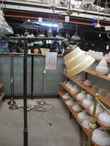 New standard lamps chrome brass