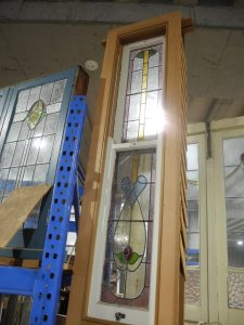 original second hand lead light double hung double hung lead light window