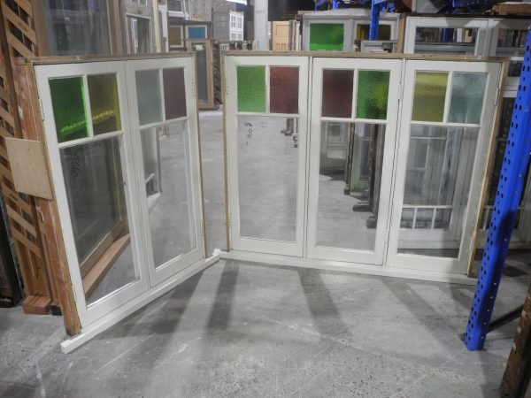 pair federation casement windows with color glass