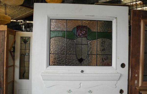 1920 s Edwardian Lead light Front Door  031