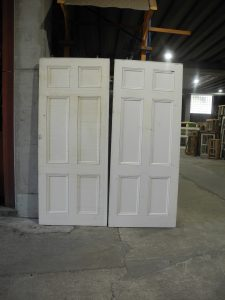 pair large 6 panel sliding doors