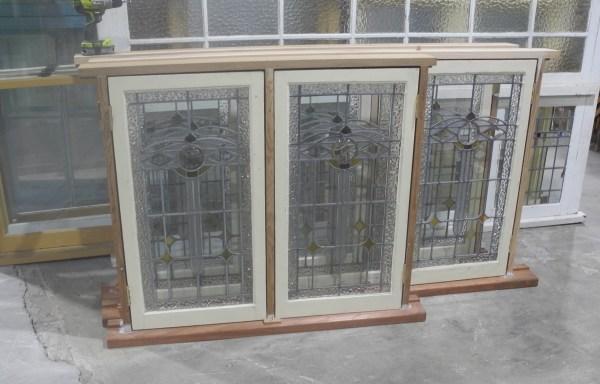 Set of 3 Casement Lead light Windows   050