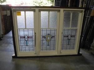 Original Lead light Triple Casement Window