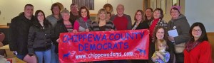 Members of Chippewa County Democrats with Gretchen Whitmer in 2017