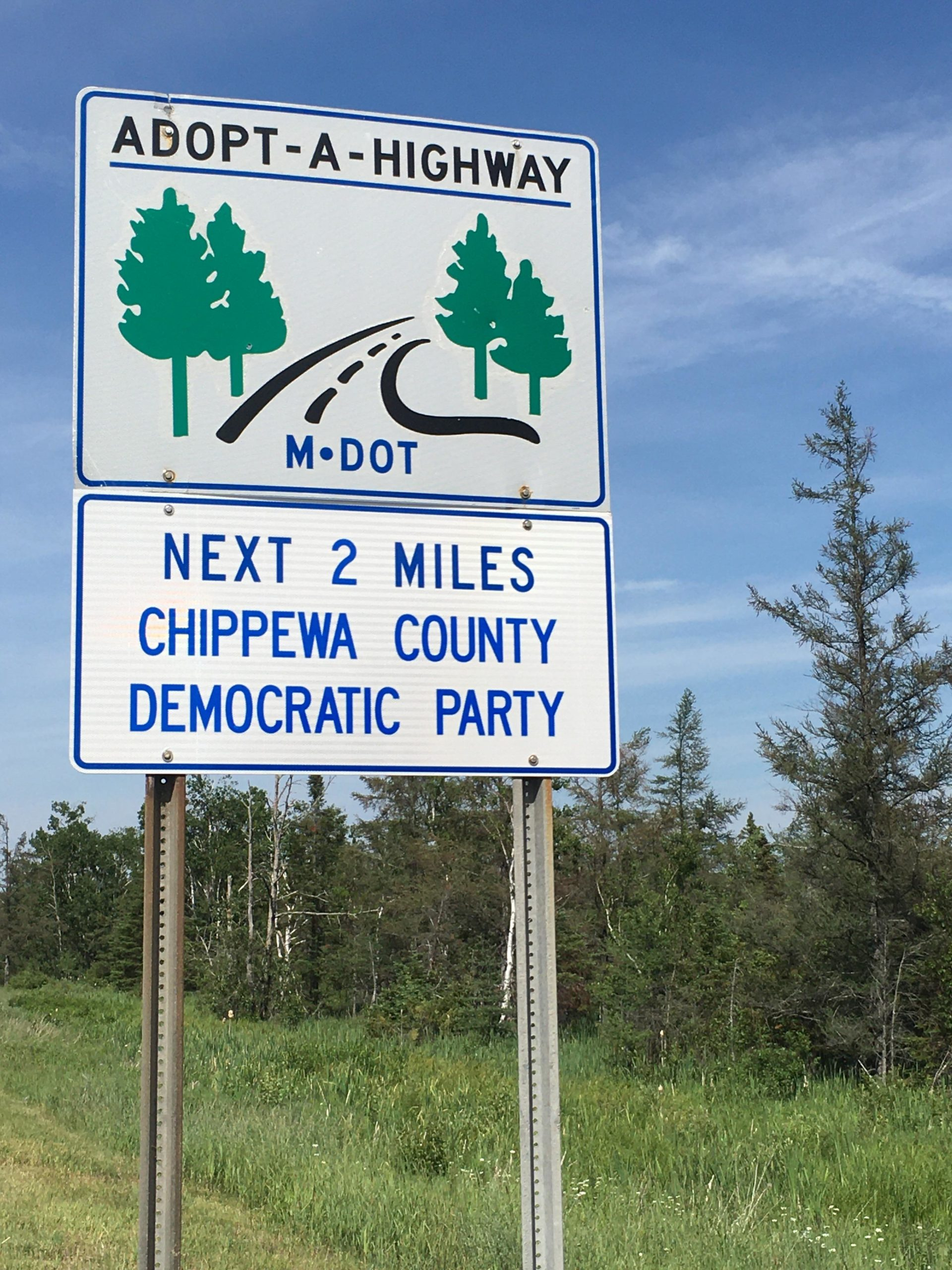 Michigan Adopt-A-Highway Next Two Miles Chippewa County Democratic Party