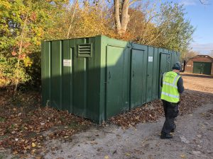Site Offices delivered to site as work gets underway