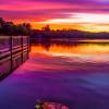 Challis Lake sunset
