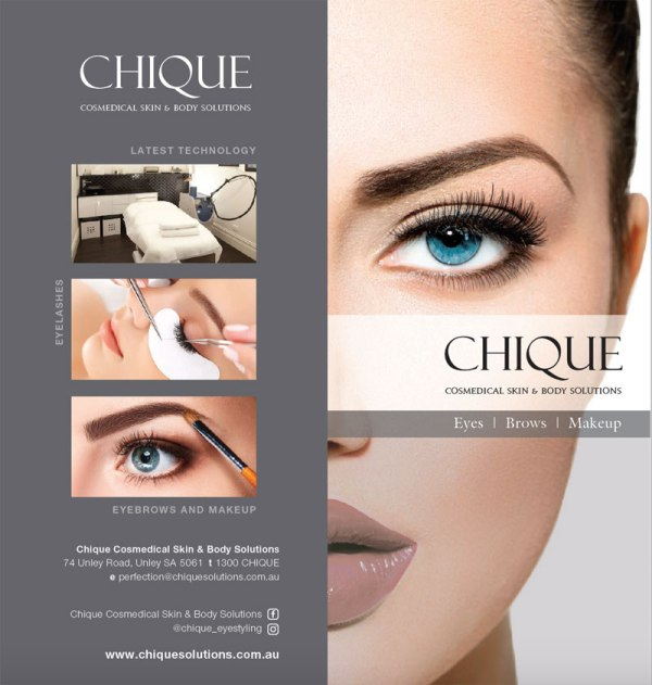 Chique Eyes, Brows & Makeup brochure