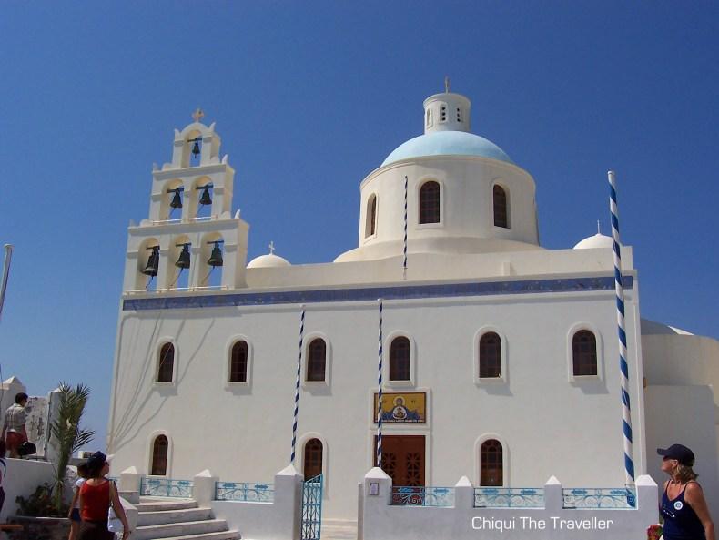 Ekklisia Panagia Platsani iglesia Santorini Oia Oya
