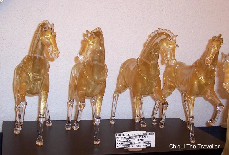 Murano caballos cristal san marcos
