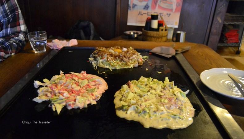 Okonomiyaki comida japonesa Sometaro