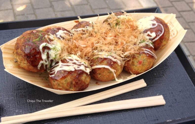 Takoyaki comida japonesa Gindako