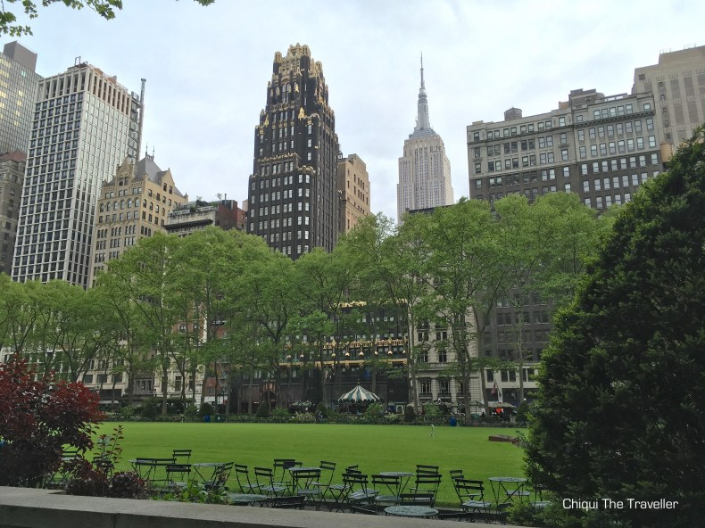 Bryant Park NYC Empire State