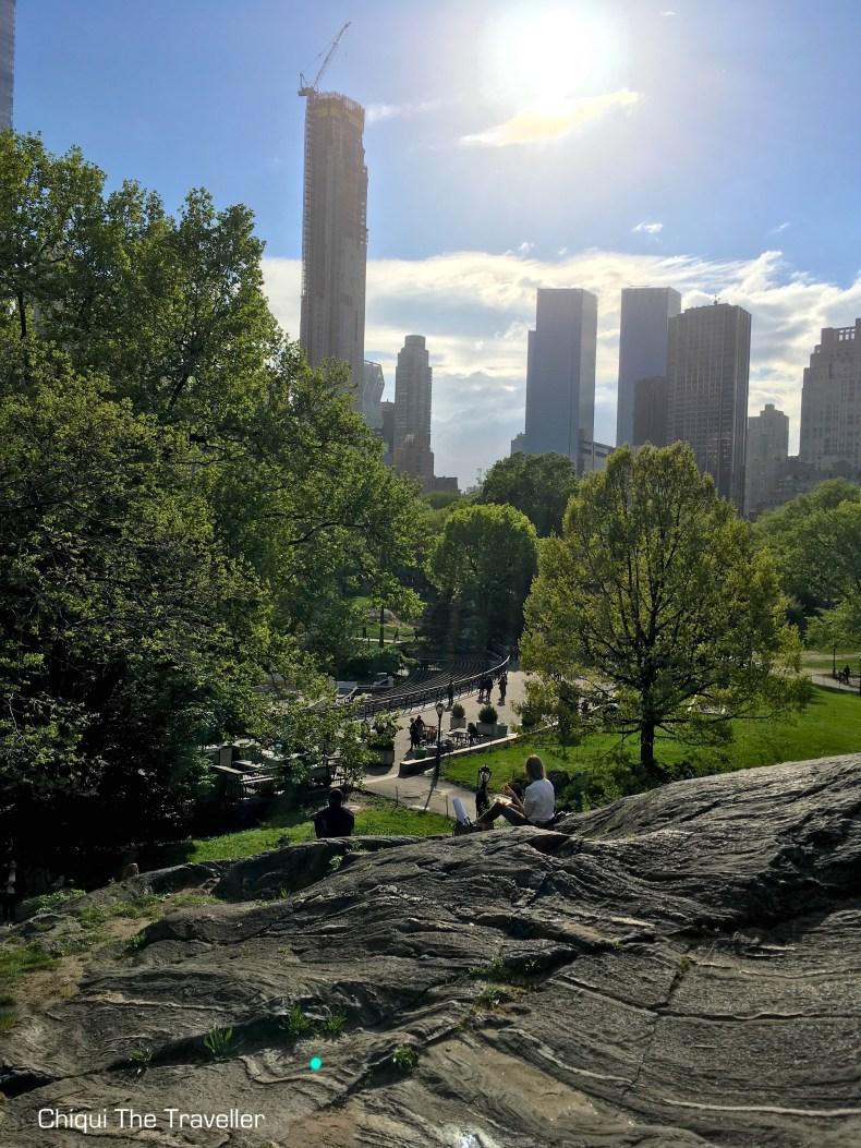 Central Park Nueva York Sol Rascacielos
