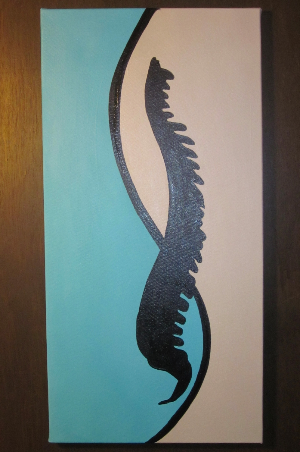 Silhouette Spine Painting Chiropractic Art
