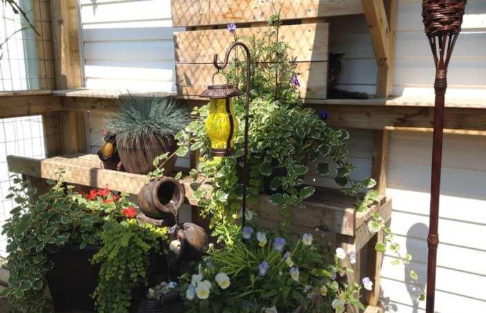 outdoor catio fountain