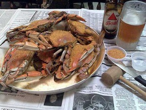 Дом крабов в Мэриленде: Maryland crab house!
