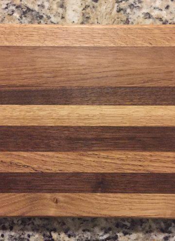 overhead shot of first cutting board